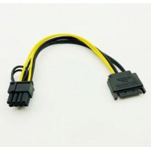 ADAPTADOR CORRIENTE SATA MACHO A 8PIN PCIE 18AWSATA8PINESPC