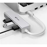 ADAPTADOR TIPO C - HUB USB 3.0 Y RJ45 10/100/1000D CR0981