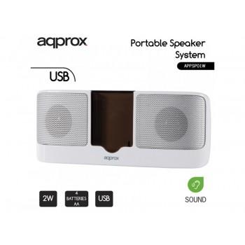 ALTAVOCES APPROX USB 2W ROJO APPSPX1R