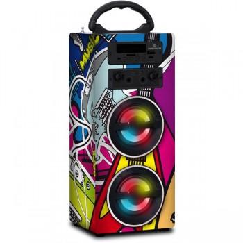 ALTAVOZ KARAOKE BLUETOOTH + LUZ LED COLAGE 10W CO CS0135