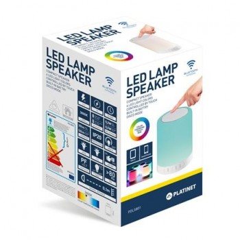 ALTAVOZ LAMPARA LED PLATINET 6 COLORES 5W PDLSB01
