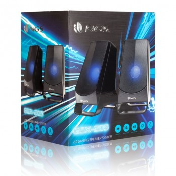 ALTAVOZ NGS GAMING 2.0 BLUE LED GSX-205