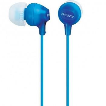 Auriculares SONY intraural de botón azul MDRREX15LPLI