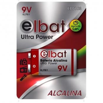 BLISTER 1 PC Pila Alcalina 6LR61/9V ELBAT EB0163