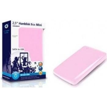 """CAJA EXTERNA HD SATA 2,5"""" USB ROSA CHD2MUPI"""