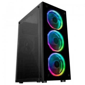 CAJA MATX Mars Gaming MCG RGB Cristal Templado USB MCGRGB