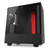 Caja NZXT H500 USB3.1 Cristal Templado negro/Rojo CA-H500B-BR