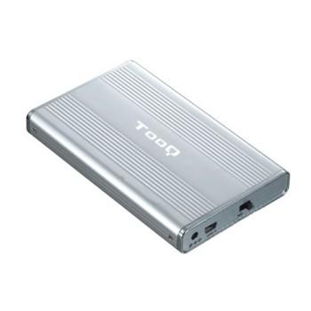 """CAJA TOOQ 2.5"""" IDE/SATA USB 2.0 PLATA TQE-2512"""