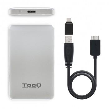 """CAJA TOOQ 2.5"""" USB 3.1 PLATA TQE-2531S"""