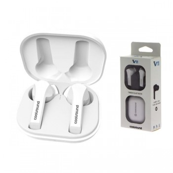 EARBUDS TWS V11 TOUCH BLUETOOTH BLANCOS COOLSOUND CS0205