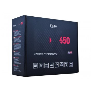 FUENTE ALIMENTACION NOX NX 650W 140MM NXS650