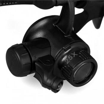 GAFAS MICROSCOPIO LUPA 10X-25X | 2 X LED CROMAD CR0961