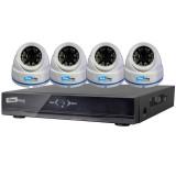 KIT CCTV ONEWAY 4 CAM. DOMO 720P + GRABADOR 4 CAM OWK720P-E1