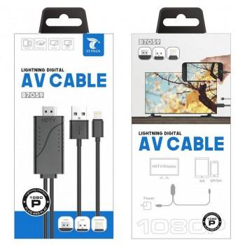 LT PLUS B7059 CABLE LIGHNTING DIGITAL HDMI NEGRO