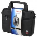 "MALETIN NGS 12"" + RATON USB NEGRO (BLACKSMART) MAL12BLACKSMA"