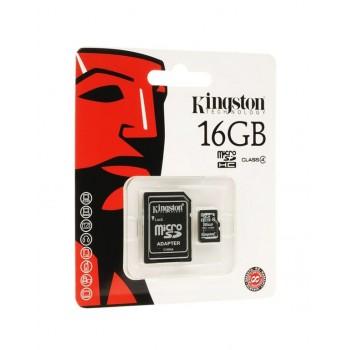 MEMORIA MICRO SD KINGSTON 16GB + ADAPTADOR SDC4/16GB