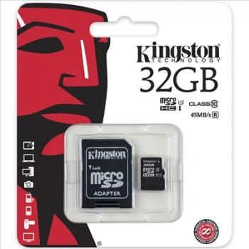 MEMORIA MICRO SD KINGSTON 32GB + ADAPTADOR SDC4/32GB