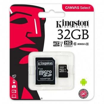 MEMORIA MICRO SD KINGSTON CLASE 10 32GB (CANON 0. SDCS/32GB