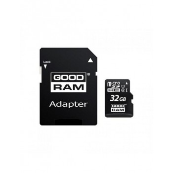 MICRO SD 32GB GOODRAM C10 + ADAPTADOR M1AA-0320R12