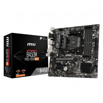 MSI B450M PRO-VDH MAX: (AM4) 4DDR4 VGA DVI HDMI 911-7A38-043