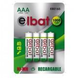 PACK 4 PCS Pilas Recargables AAA 1000mAh ELBAT EB0165