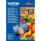 Papel Brother Foto Glossy 10x15 20 hojas, 260g/m2 BP71GP20