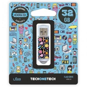 PENDRIVE TECHONETECH Calavera Moto 32GB TEC4002-32