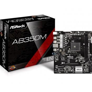PLACA ASROCK AB350M (AM4) 2DDR4 6USB3 4SATA M.2 90-MXB580-A0UAYZ