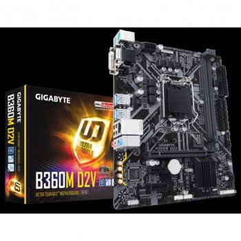 PLACA GIGABYTE B360-D2V (1151) 2DDR4 DVI GA-B360M-D2V