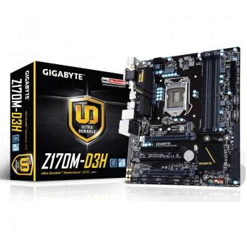 PLACA GIGABYTE Z170M-D3H (1151) 4DDR4 VGA HDMI 6SA GA-Z170M-D3H