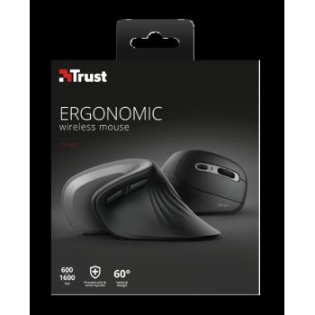 Ratón Trust Verro ergonómico inalámbric 23507