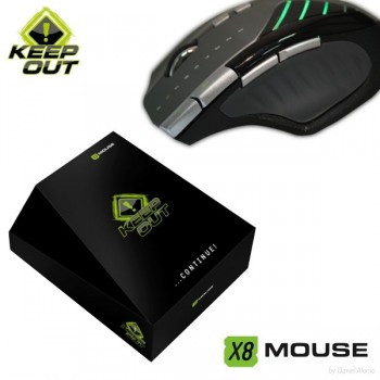 RATON KEEP OUT X8 6000 DPI LASER X8MOUSEKEEP