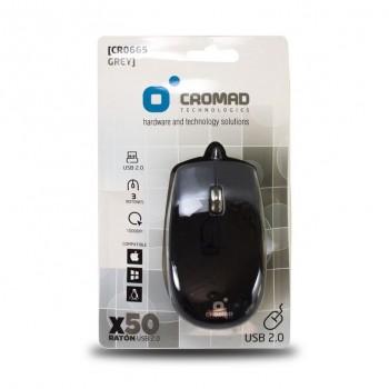 Raton X50 USB Negro/Gris CROMAD CR0665