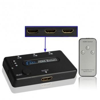 Switch CROMAD HDMI 3 Puertos 1080P con Mando CR0398