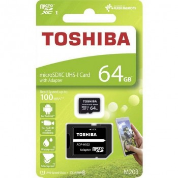 TARJETA MEMORIA MICRO SD 64GB CLASE 10 TOSHIBA THN-M203K0640EA