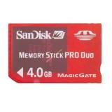 TARJETA MEMORY STICK PRO DUO 4 GB MECDST004