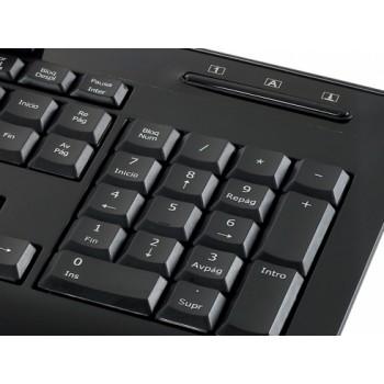 TECLADO CONCEPTRONIC USB CON LECTOR DE DNI CKBESMARTID