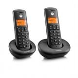 TELEFONO INALAMBRICO DECT MOTOROLA E202 DUO 107E202