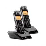 TELEFONO INALAMBRICO DECT MOTOROLA S1202 DUO NEGRO 107S1202BLACK