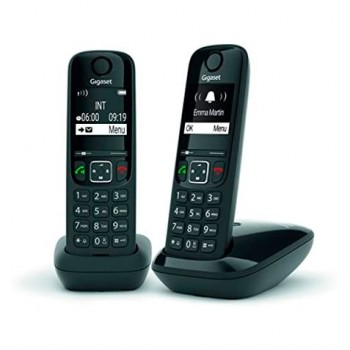TELEFONO INALAMBRICO GIGASET AS690 DUO NEGRO L36852-H2816-1