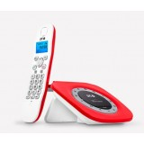 TELEFONO INALAMBRICO SPC RETRO GLAMOUR ROJO 7707R