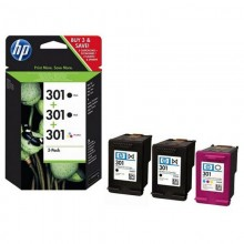 TINTA HP (301) PACK COLOR Y DOBLE NEGRO E5Y87EE