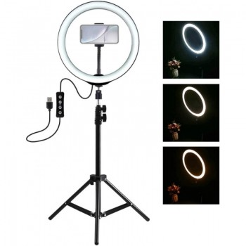 TRIPODE MOVIL CON LED REGULABLE 26CM +16CM SD-5342